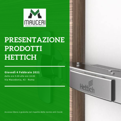 Presentazione prodotti Hettich